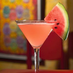 Using 1/2 a watermelon (about a 12 pounder), cut into chunks and add to 1 liter of tequila. Use a potato masher to break up the fruit, cover, and refrigerate for up to 48 hours. When it's ready strain out the whole watermelon and voila! To mix the margarita in a shaker add 1.5 ounces of the infused tequila, 3/4 ounce Cointreau, 1/3 ounce fresh lime juice and mix with crushed ice. Strain and pour in a glass garnished with a wedge of watermelon.