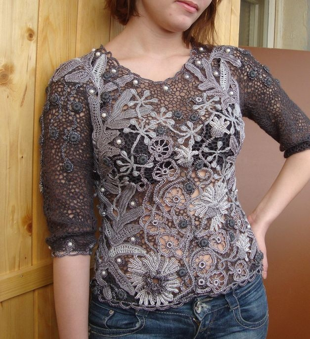 Irish Crochet Patterns For Tops Pakbit For
