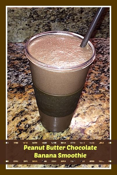 Tasty Fun Recipes - Peanut Butter Chocolate Banana Smoothie
