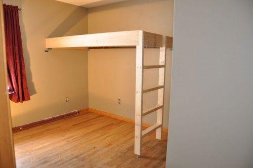 floating loft bed (no plans) | cool kid stuff | Pinterest