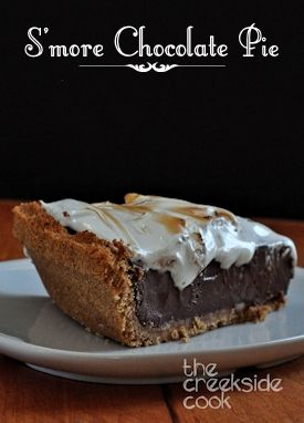 ... mores, but in a grown up version: S'more Chocolate Pie | The