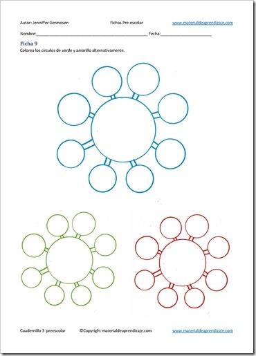 Ficha 9 - 3 de grafomotricidad preescolar | Material De Aprendizaje