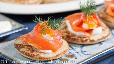 Buckwheat Pancakes With Smoked Salmon Recipe — Dishmaps