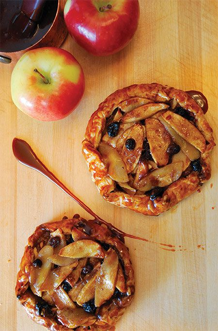 BC Ambrosia #apple tarts with aged #cheddar crust and salted #caramel ...