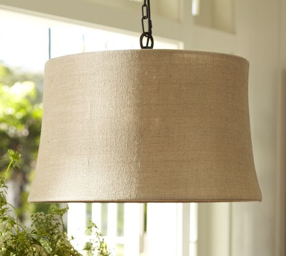 Kitchen Pendant Lighting Pottery Barn: Burlap Drum Shade Pendant
