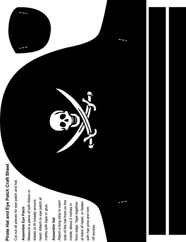 Free Pirate Hat Template Coloring Pages