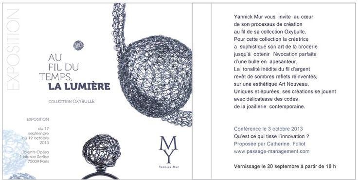 Circuits bjoux Yannick Mur - EXPO 'Au fil du temps, La Lumière'