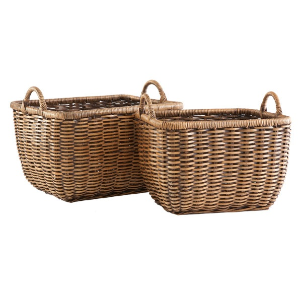 Plaited Weave Baskets, Wisteria | Aqua/Green/White Color Palette | Pi ...