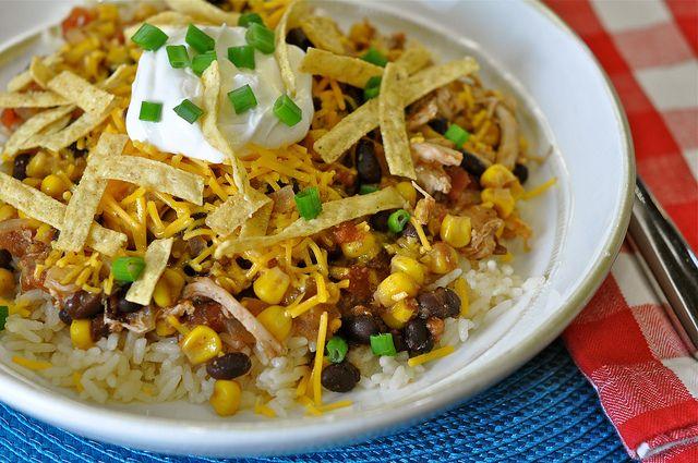 Crock Pot Santa Fe Chicken | crockpot food, yum! | Pinterest