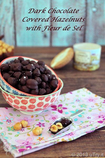 Dark Chocolate Covered Hazelnut with Fleur de Sel