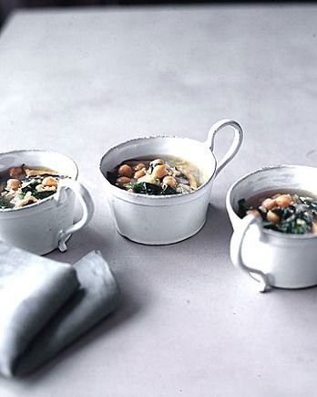 Hearty Spinach and Chickpea Soup | Photographs | Pinterest