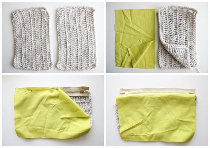Crochet Zipper Pouch Tutorial : Treble Crochet Zip Pouch TUTORIAL Crafts Pinterest
