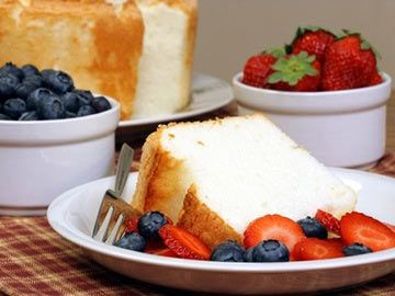 Red, White and Blue Angel Food Cake | Diet.com Recipes | Pinterest