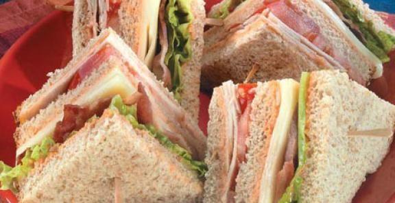 Turkey Club Sandwiches with the Works | KitchenDaily.com