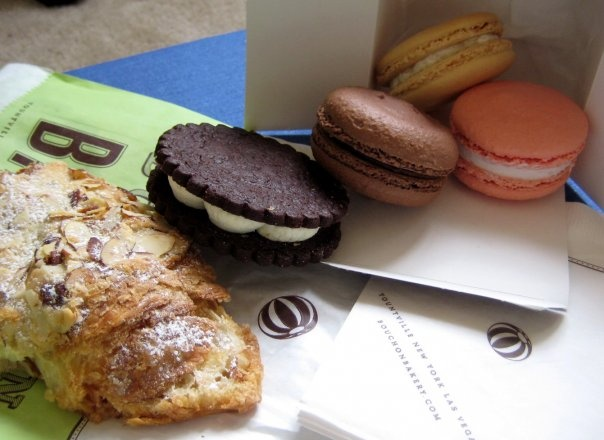 Bouchon Bakery Yountville: Almond croissant, TKO (chocolate sable ...