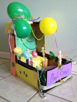 Shoebox Mardi Gras float