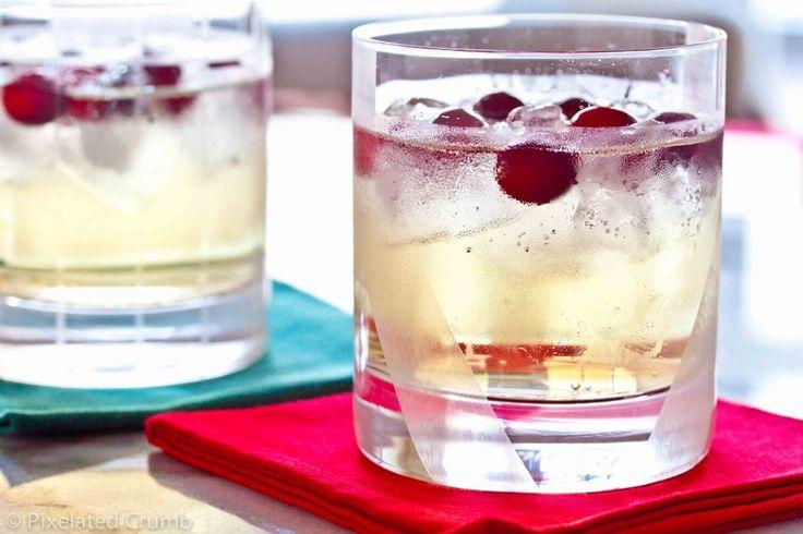 cranberry ginger cocktail: vodka and ginger beer garnished with ...