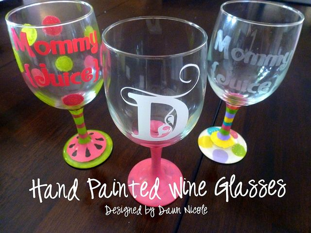 Hand painted wine glasses for Wine glass painting tutorial