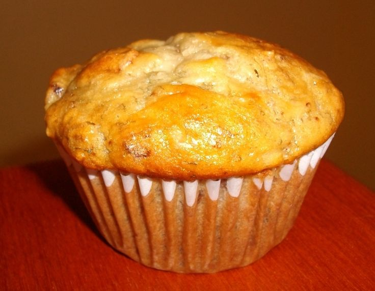 overly ripe bananas, and in our house, that means banana nut muffins ...