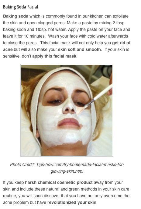 Baking soda facial, it really works!!! | DIY Cosmetics ...