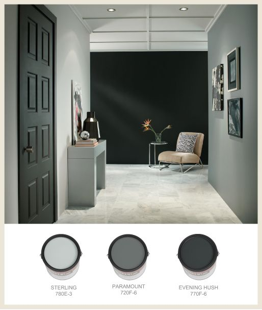Evening hush behr houzz 2015 home design ideas Shades of grey interior paint