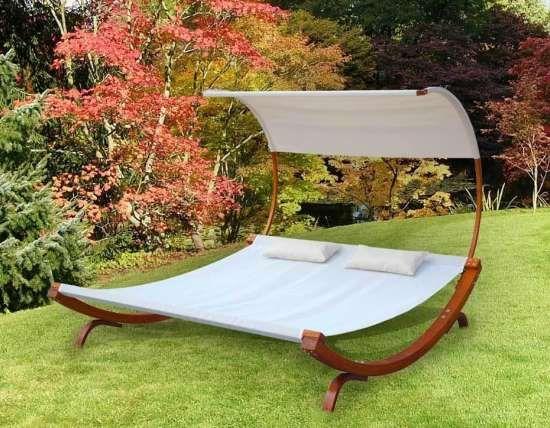 Backyard Hammock Bed : MALIBU Garden Bed ?43080  canopy hammock for the backyard from