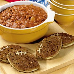 Pumpkin chili and football grilled cheese YUM! Pair with Sutter Home Zinfandel for a perfect game day snack