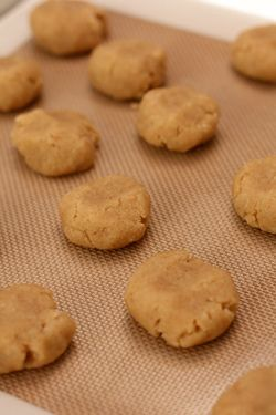 tahini and almond cookies from David Lebovitz.