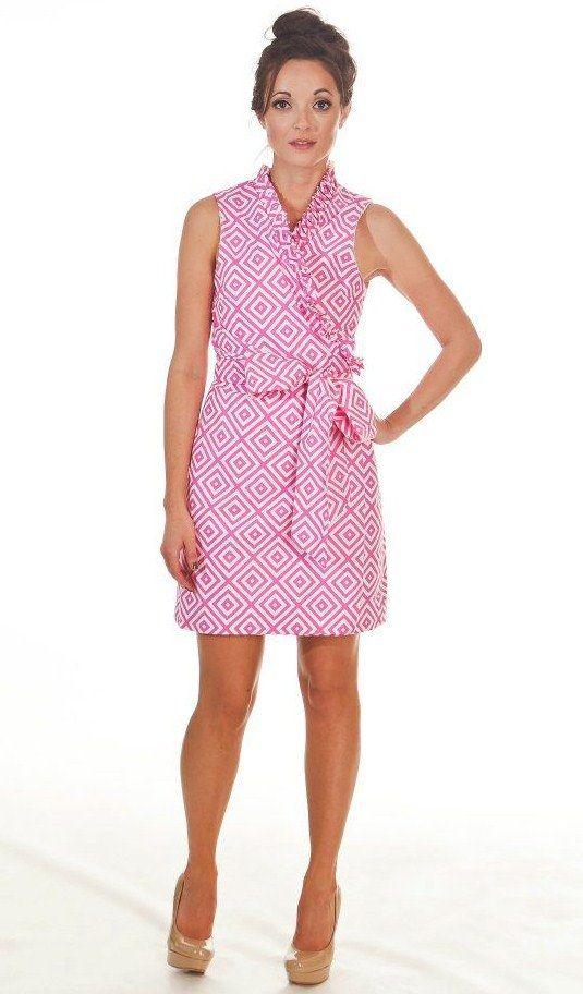 pink wrap dress shoes preppy
