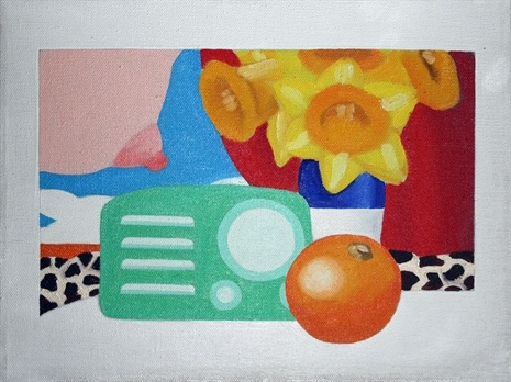 Wesselmann combines the female figure with a still-life scene composed of common household objects and elements from popular advertising images.
