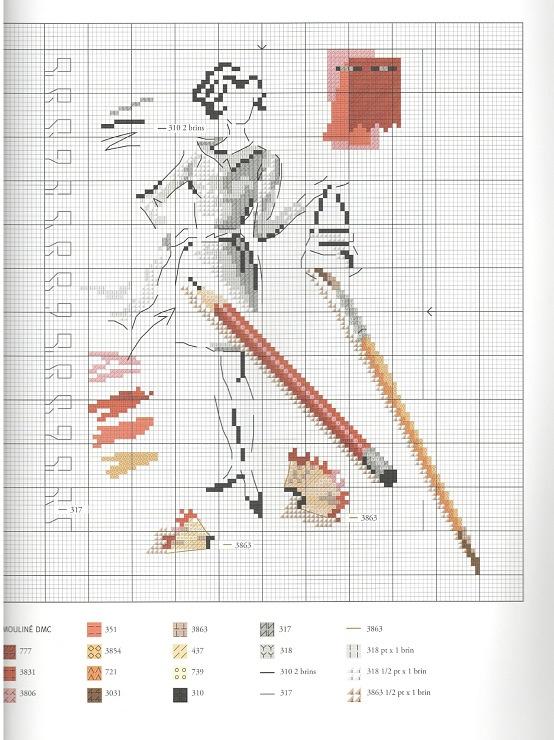 Модная вышивка крестом схемы 37