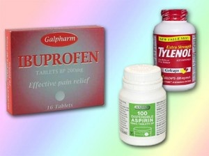 Differences in ibuprofen and acetaminophen