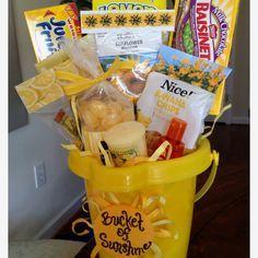 """""""Bucket Full of Sunshine"""" Gift Basket."""