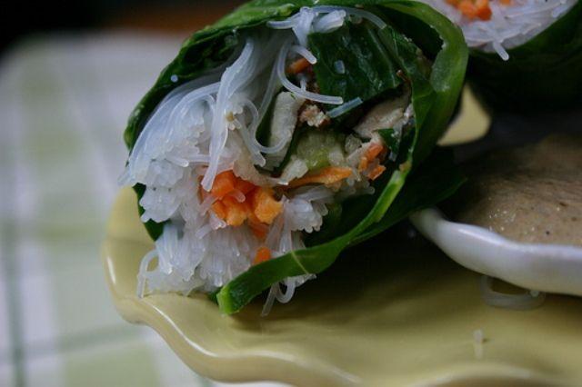 SWISS CHARD SPRING ROLLS | Culinary_Recipes | Pinterest