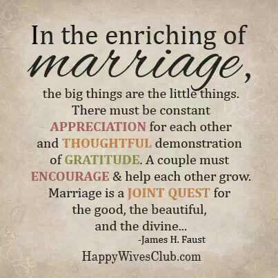 appreciating your man