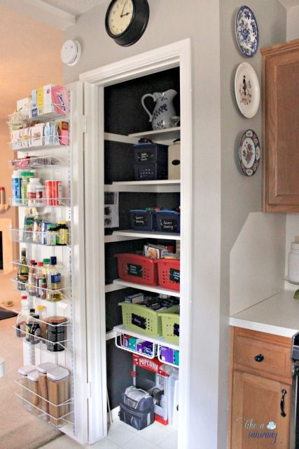 small pantry makeover and organization best of pinterest. Black Bedroom Furniture Sets. Home Design Ideas