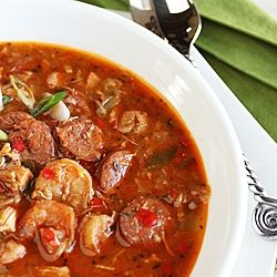 Cajun Gumbo with Shrimp, Chicken and Andouille Sausage