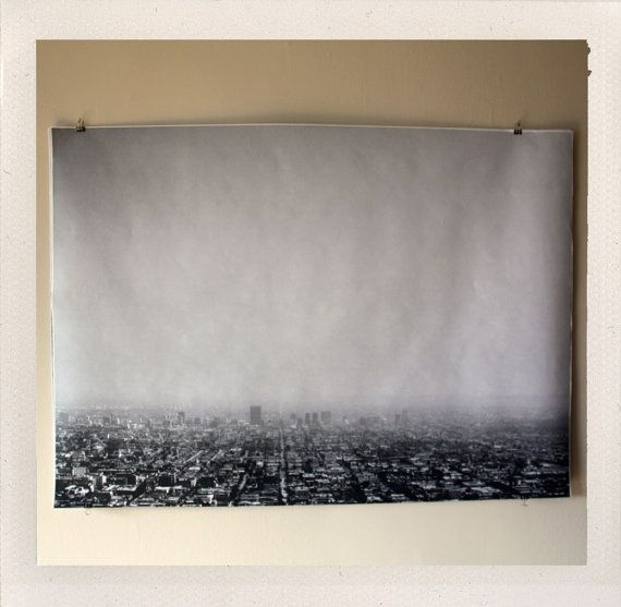 Los Angeles Large Format Print by HANDSworkshop on Little Paper Planes.     I love this large black and white print for the living room. I love the idea of living in LA one day and this photo really inspires me.