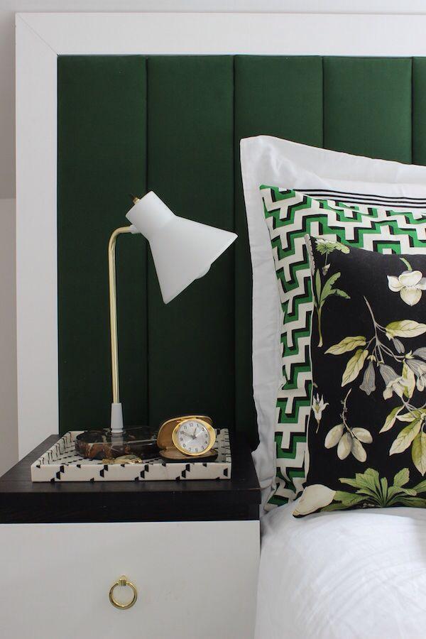 Killer black white and emerald green bedding combo
