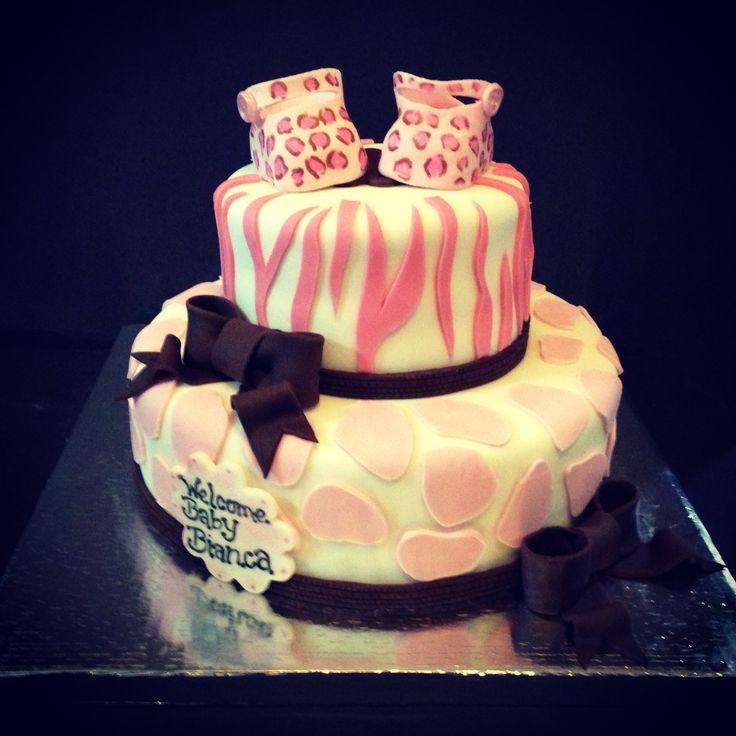animal print baby shower cake cakess pinterest