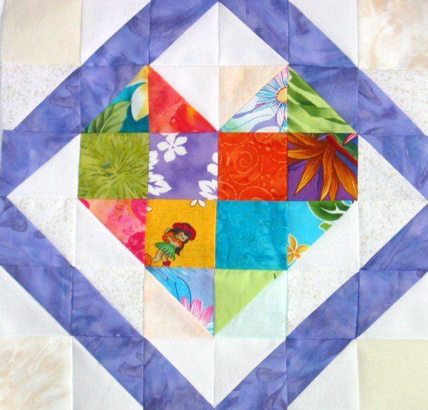 Hawaii Heart | Quilt Blocks | Pinterest