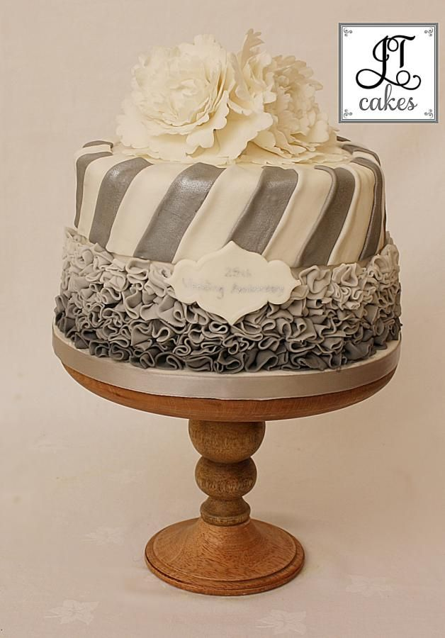 25th Wedding Anniversary Cakes Pinterest