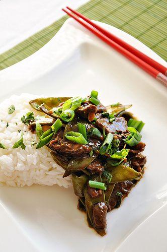 Beef, Shiitake and Snow Pea Stir-Fry