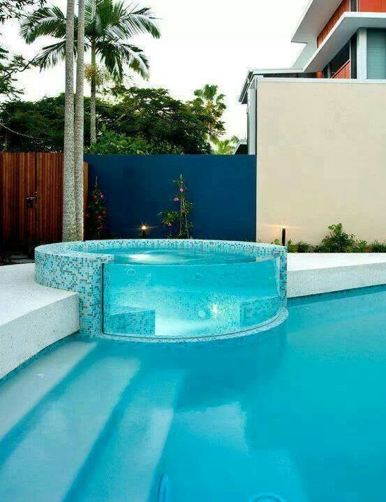 Such A Cool Hot Tub Idea For The Home Pinterest