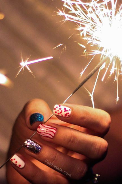 Baby you're a firework #manicure!