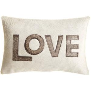 cowhide LOVE pillow