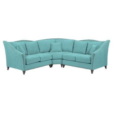 Hadley sectional sofa at joss and main home pinterest for Sectional sofa joss and main