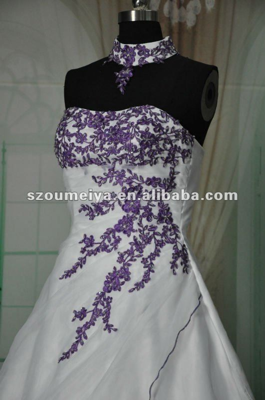 Wedding Dresses Purple Accent 121