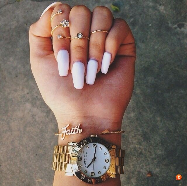 Coffin Nails | Nails | Pinterest