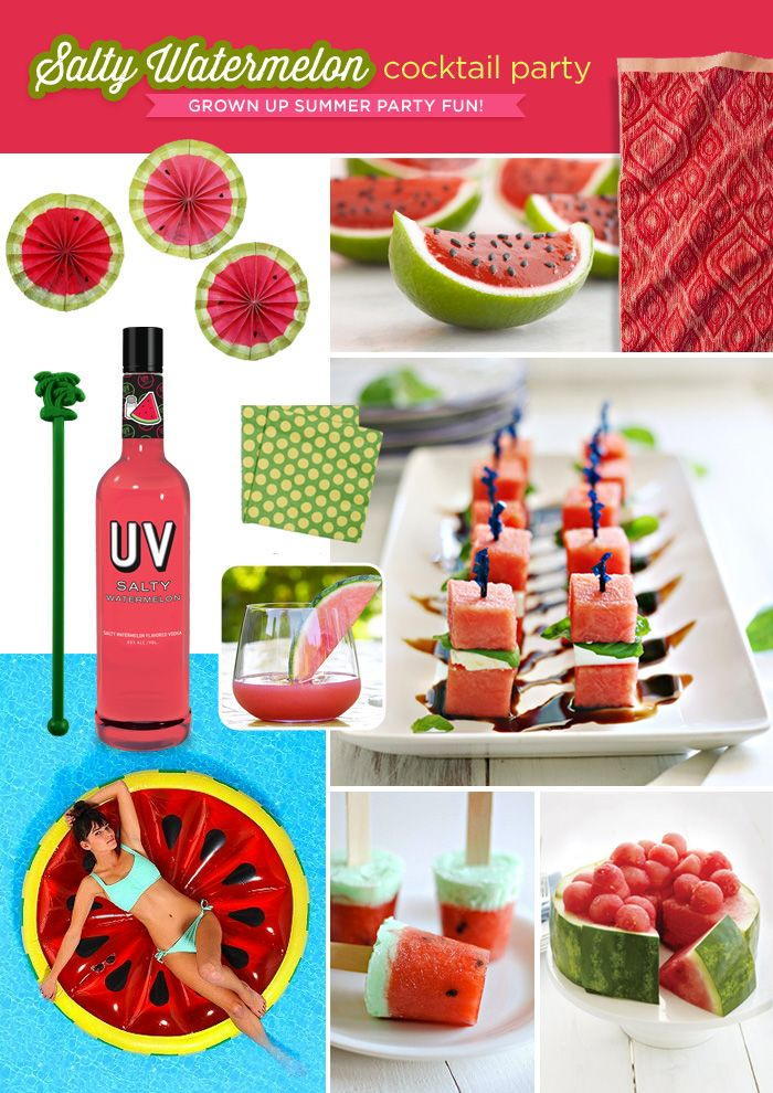 salty watermelon summer cocktail party theme
